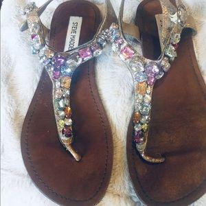 Steve Madden jeweled sandals